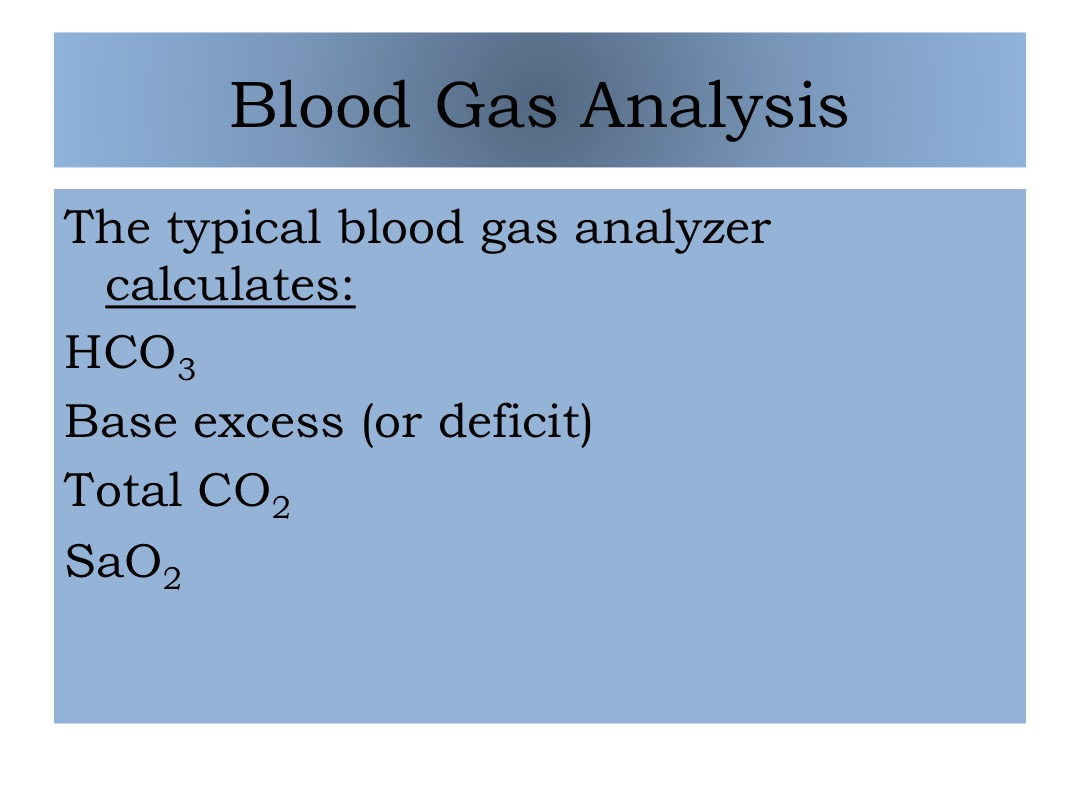 Blood Gas Analysis 2 slide image #2