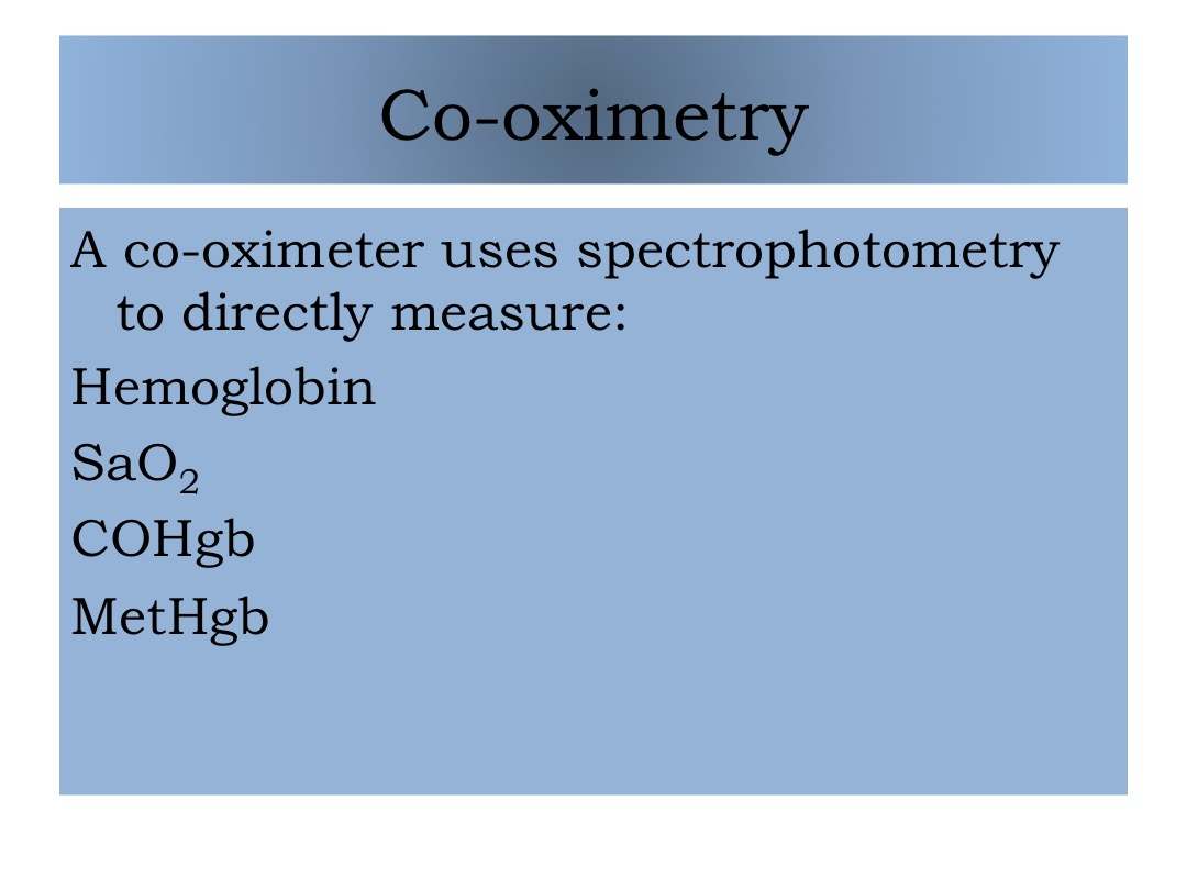 co-oximetry slide image